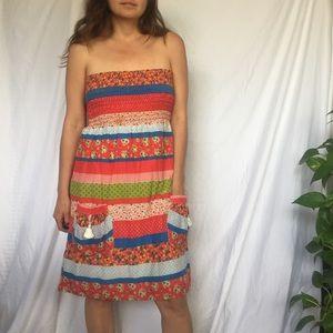 Cutest little strapless halter Voom dress